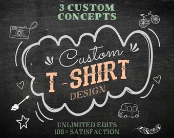 T-Shirt Design, Custom T-Shirt Design, T-shirt front design, T-shirt Back Design, Logo Design