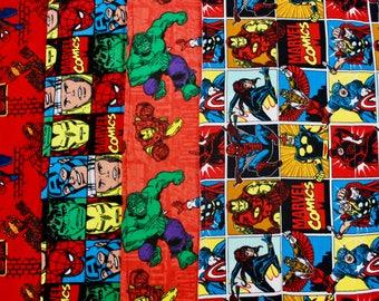 Superhero 4 Pack Baby Boy Burp Cloths