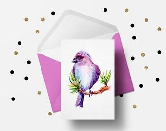 Illustration Art Print, Bird illustration, Bird drawing, Watercolor Bird, Wall Art, Home Decor Active