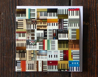 Keyboards | Greeting Card | Male Birthday Card | Collections Greetings Card | Photographic Card for Him | Musical Instruments Card | Pianos