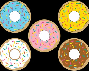 DIY Printable Banner: Donuts {For Banner, Decoration, and More!} Instant Download!