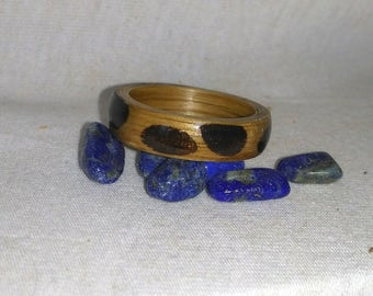 Oak and Wenge bent wood ring