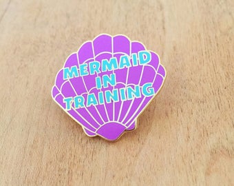 Mermaid in Training pin