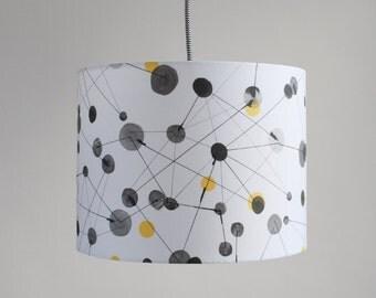 Drum Lamp Shade // GeoDot - Winter Sun // Various Sizes