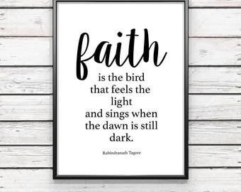 faith is the bird...  {DIGITAL FILE}