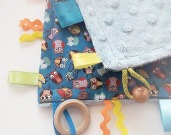Taggie Blanket/Crinkle Toy/Crinkle Sound/Taggie Blanket/Teether/Teether/Sensory Baby Toy/Mickey Mouse/Montessori Baby Toys/Busy Blanket