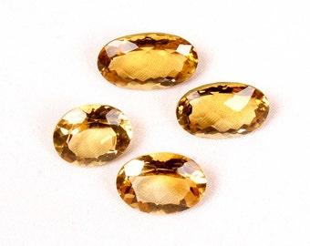 28.90 ct. Natural Beer Quartz faceted oval cut 4 pieces wholesale lot top quality loose gemstones Ki-14942