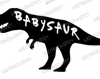 Babysaur SVG, dinosaur svg, baby boy svg, dxf, png, scan n cut, cricut, silhouette, baby boy birthday, t rex svg, dinosaur decor