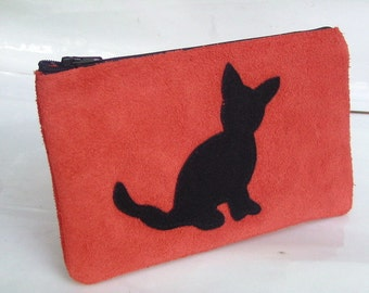 Leather pencil case & Amy the cat Schlampermäpchen