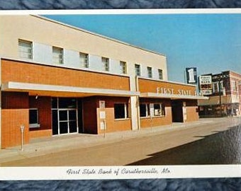The First State Bank Caruthersville Missouri Post Card Postcard