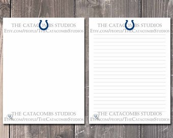 Indianapolis Colts: NFL Printable Paper & Writing Paper