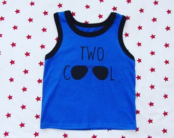 Two cool tank top, two cool shirt, two year old birthday shirt