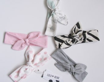 Bow stretch headband, baby girl headband, girl headband