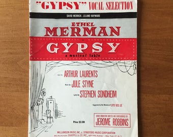 Gypsy - Vocal Selections c.1959, Lyrics by Stephen Sondheim and Music by Jule Styne, Vintage Sheet Music