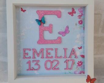Newborn baby gift - christening gift - Personalised gift - gift for child - gift for baby - keepsake - baby keepsake - picture frame