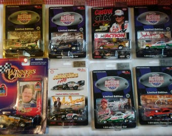 John Force 1:64 Collection of 8 cars