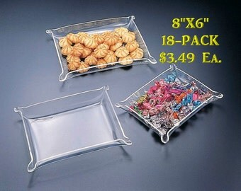 "Acrylic Jewelry Tray - Blank 8"" x 6"" (18-Pack)"