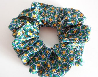 scrunchies scrunchie scrunchy green and yellow cotton   Scrunchies   chouchou ,  Hair Accessories  , Handmade by  ScrunchiesCo .