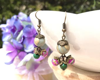 Simple and Colorful Earring