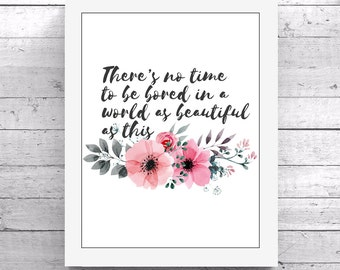 PRINTABLE QUOTE Floral Design Art Decor Download