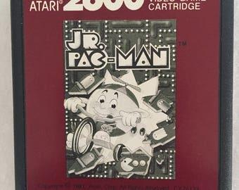 1987 Pac Man Jr Atarti 2600 Game Cartridge