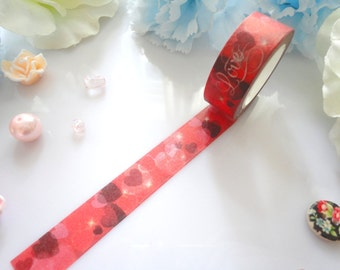 Love Hearts Washi Tape Stationery Masking Deco Tape