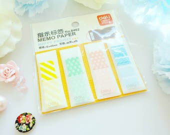 Polka Chevron Sticky Tabs Stripes Cute Pastel Plastic Notes Bookmarks