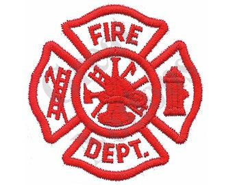 Fire Dept. Cross - Machine Embroidery Design