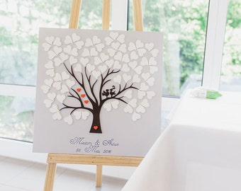 Wedding Tree Guestbook alternative Wood Birds