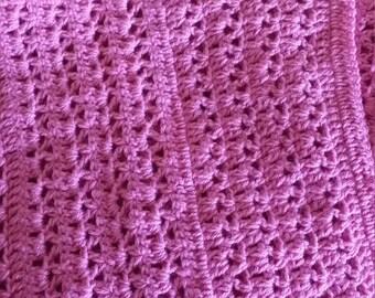 Dark Pink Baby Afghan