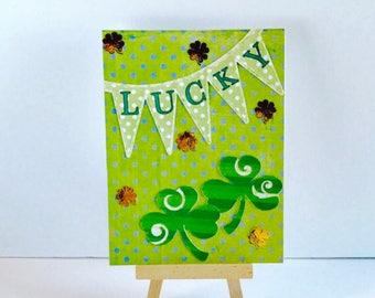 St. Patrick's Day Card, Lucky Card, Clover Card, Shamrock Card, Luck Of The Irish Card, St. Patty Card, Greeting Card