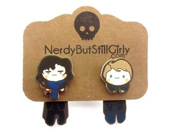 Consulting Detective & his Doctor Cling Earrings