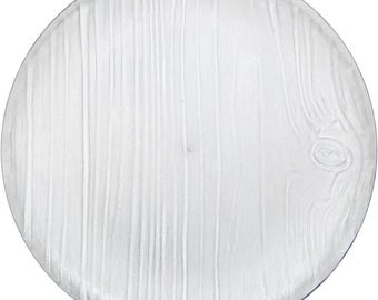 4 CT Clear Rustic Wood Look Plates/ Plastic Wood Plates/ Rustic Wood Plates/ Premium Rustic Wood Plates