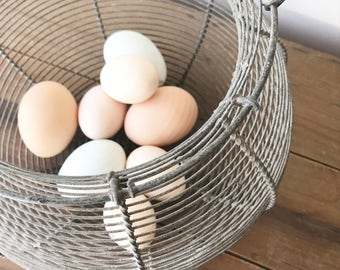 French Egg Wire Basket