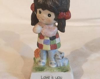 "1978 ""Love is you"" girl figurine by Gentle Treasures"