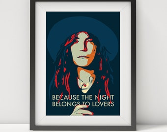 patti smith, patti smith poster, iggy pop, musician, punk rock, music, gift, music legends, quote poster, patti smith art print-music poster