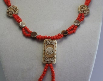 Asian inspired necklace
