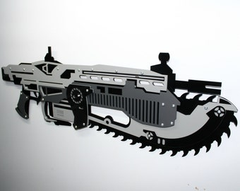 Gears of War Lancer acrylic wall art