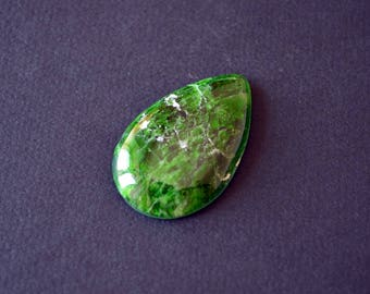 Chrome diopside natural stone cabochon   41 х 26 х 6 mm