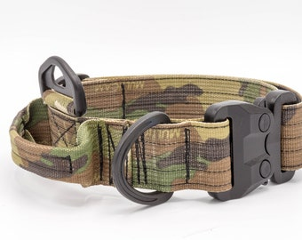 Large Tactical Dog Collar with Handle (GT Cobra Buckle)