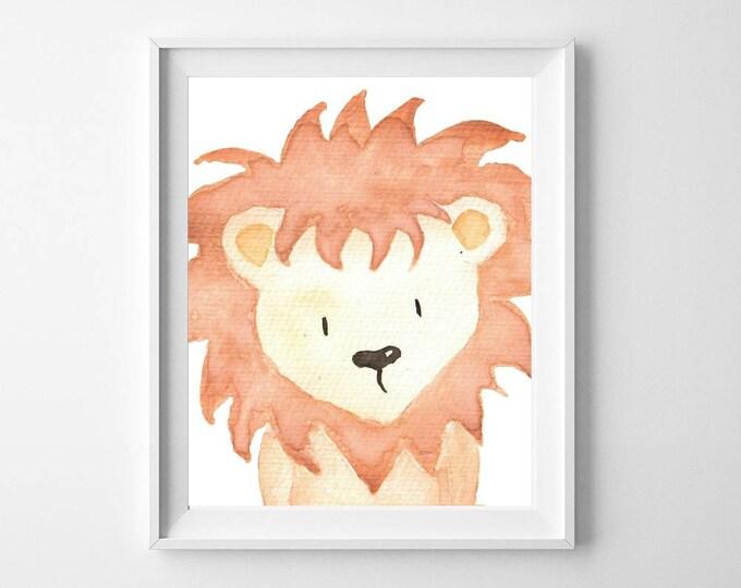 Safari Nursery, Safari Nursery Decor, Lion Nursery, Nursery Decor, Woodlands Nursery, Be Brave, Lion Print,
