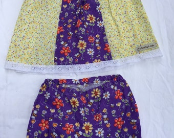Size 6-12 Months Girls Clothing - Purple Flowers