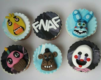 Five nights at Freddy's cupcake toppers
