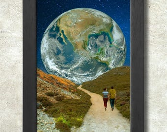 The Earth Path Poster Print A3+ 13 x 19 in - 33 x 48 cm Space Collages Buy 2 get 1 FREE