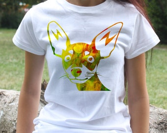 Pinscher T-shirt - Dog Tee - Fashion women's apparel - Colorful printed tee - Gift Idea