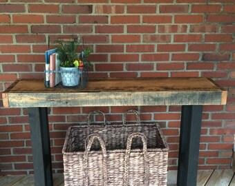 Rustic Entryway Table - Farmhouse Entry Table - Reclaimed Entryway Table - Buffet Table - Sofa Table - Rustic Decor Table - Hallway Table -