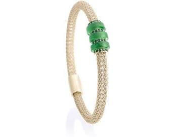 Emerald on Ice Gold Bella Bracelet