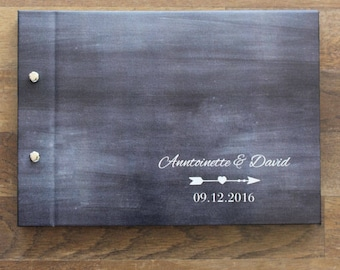 "Photo Guest Book A4, Wedding Photo Book, ""Chalkboard"", Weddings, Engagements, Birthdays, Anniversaries"