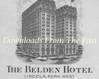 Digital Download Belden Hotel Chicago