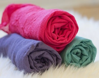HIGH QUALITY Cheese Cloth Wrap for Newborns Hand Dyed - Purple, Dark Teal